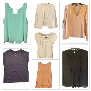 Woman's clothing lot all tops are size Large